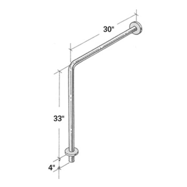 Wall To Floor Stainless Steel Grab Bar with 4 Extension