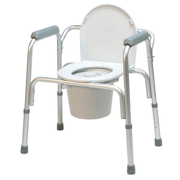 3-In-1 Toilet Assist Commode with Back