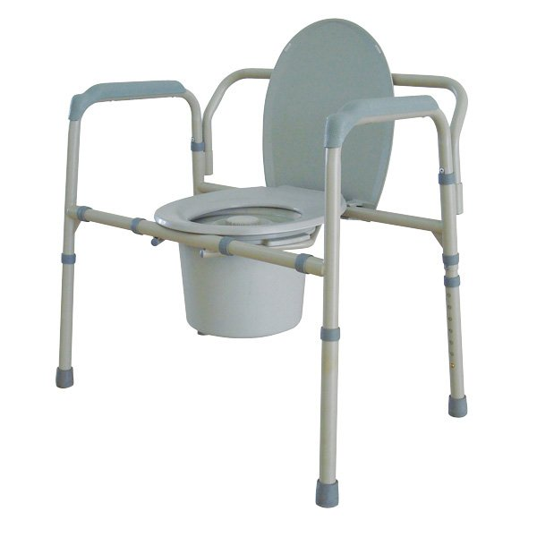 Drive Medical Bariatric Folding All-In-One Steel Commode ...