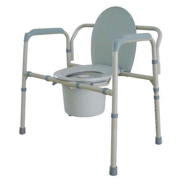 Drive medical steel folding bedside commode : Drive medical bariatric folding all in one steel commode