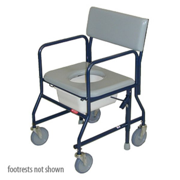 Activeaid Standard Shower Commode Chair With Footrests