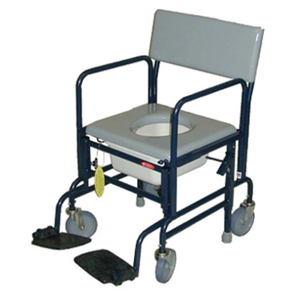 "ActiveAid Folding Shower mode Chair with 5"" Caster"