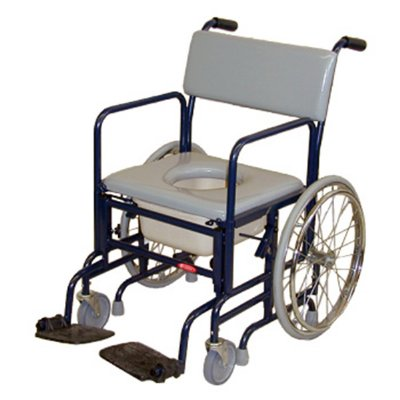 activeaid folding shower commode chair with 20 rear wheels