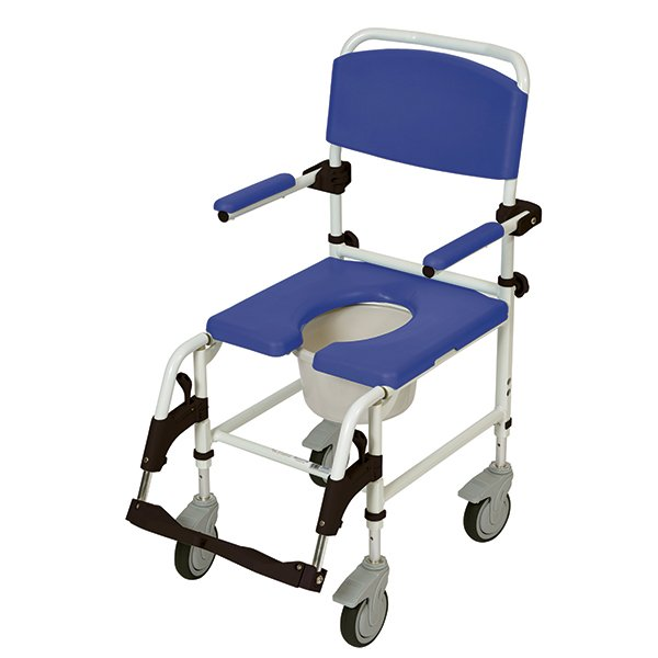 Drive Medical Aluminum Rehab Shower Commode Chair With 5 Casters