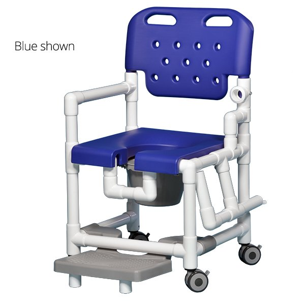 IPU Elite Shower mode Chair with Footrest and Drop Arm