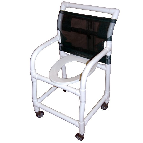 18 Wide Shower Commode Chair With Elongated Commode Seat