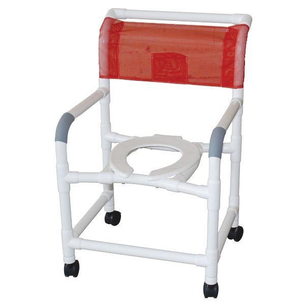 22  PVC Shower/Commode Chair - Standard - Open Front Seat - 3  x 1 1/4  Heavy-Duty Casters  sc 1 st  Ocelco & 22