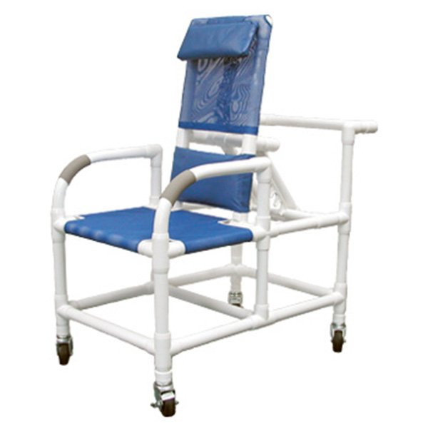 20 Quot Pvc Reclining Shower Commode Chair Mesh Sling Seat