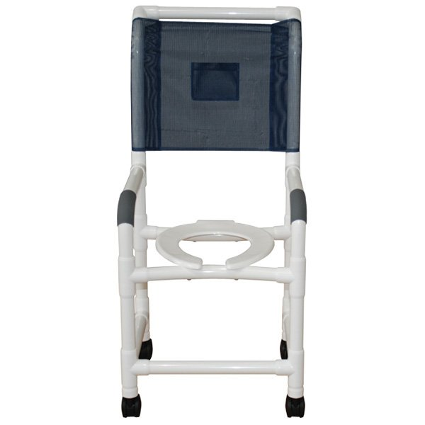 18 PVC Shower/Commode Chair - High Back - Open Front Seat