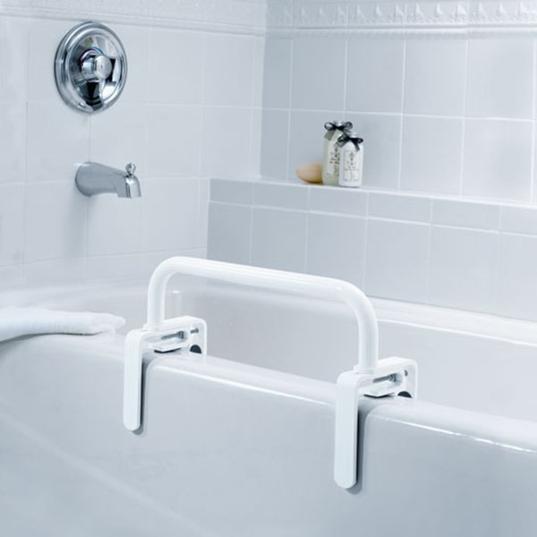 Moen low profile tub safety bar for Low height bathtub