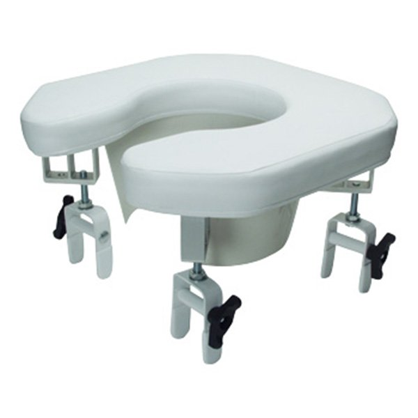 Lumex Multi Position Open Padded Raised Toilet Seat