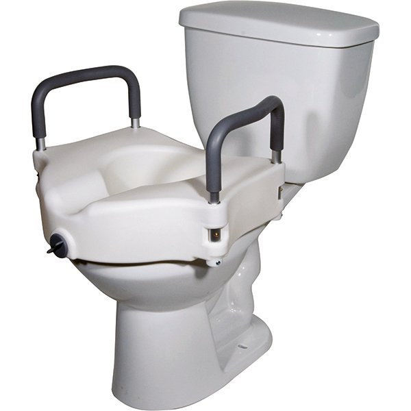 Clamping Raised Toilet Seat With Removable Arms