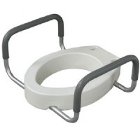 Raised Toilet Seats With Arms Adjustable Height Padded