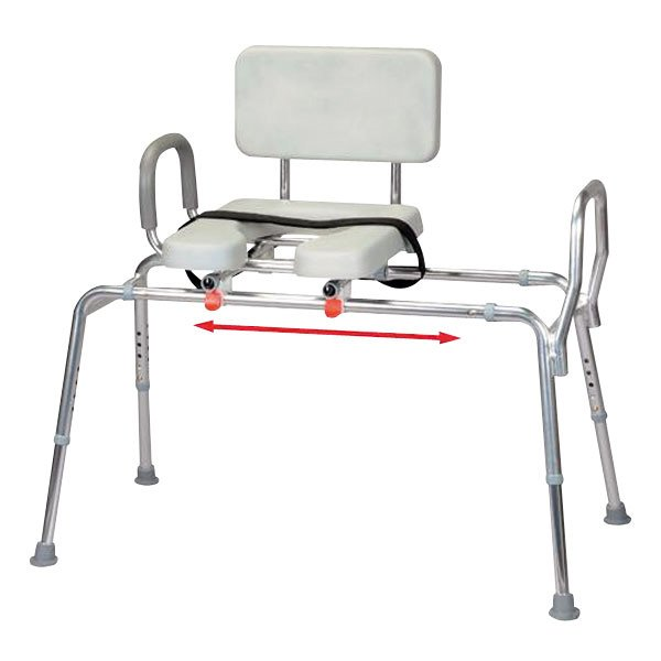 Snap N Save Padded Sliding Transfer Bench With Cut Out