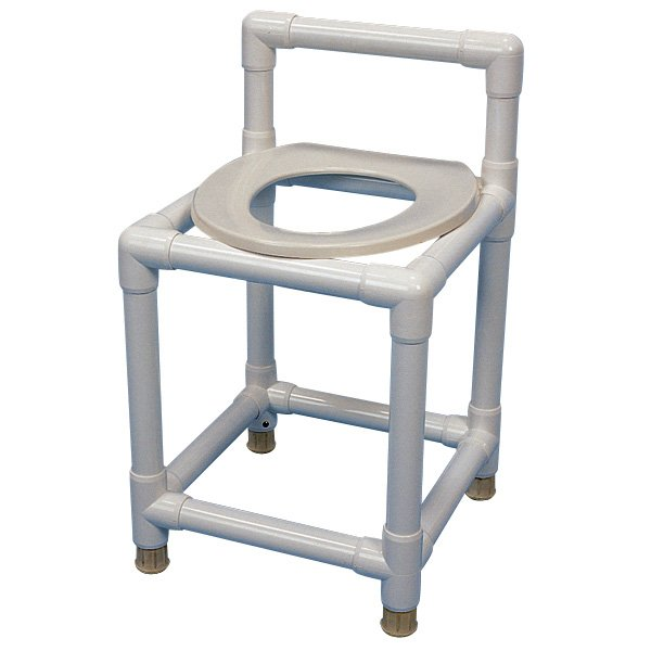 PVC Shower Stool with Toilet Seat