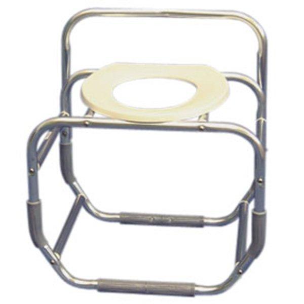 Heavy-Duty 15 1/4 Seat Depth Bathtub Chair - with Toilet Seat Ring ...