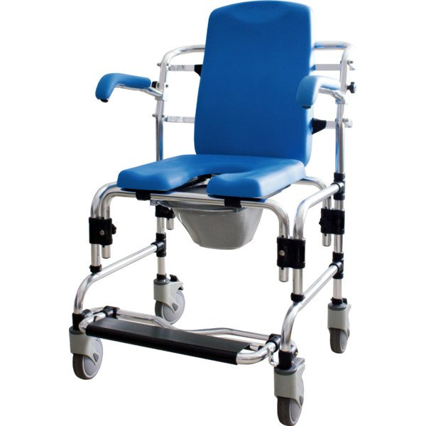 Caspian Mobile Shower Commode Chair