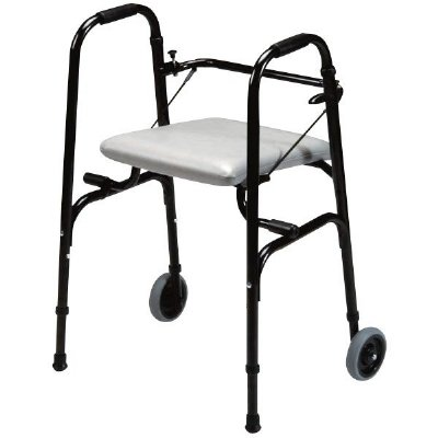 Walker With Fold Down Seat And Wheels