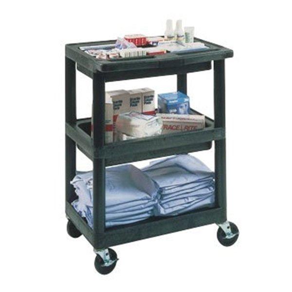 Medical Supply Cart 3 Shelves 15 3 4 X 24 X 34 11