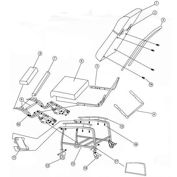 drive medical recliner frame for d574 recliner