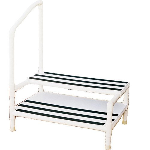 Pvc Heavy Duty Double Step Stool With Rubber Tips Left