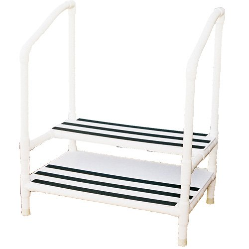 Pvc Heavy Duty Double Step Stool With Rubber Tips Dual