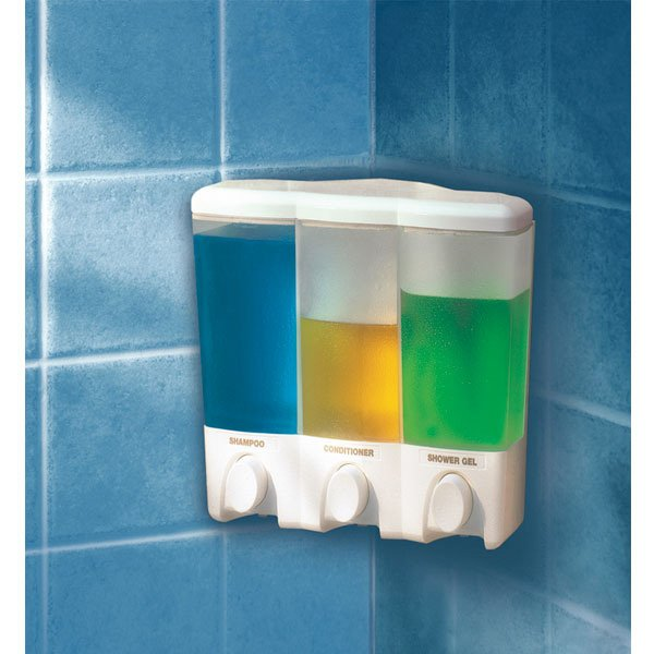 Clear Choice Triple Dispenser For Shampoo Conditioner