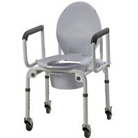 Commodes with wheels, rolling commodes, ada compliant commodes